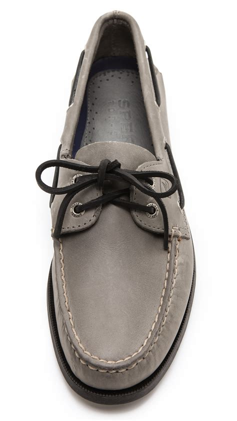 sperry top sider ao classic boat shoes black sole