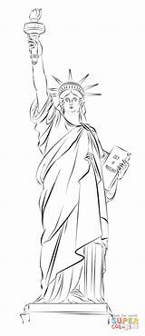 Liberty Statue Coloring Drawing Pages York Sketch Draw Easy Step Printable Tutorials Usa Drawings Sketches Supercoloring Beginners Paintingvalley Dot Cartoon sketch template