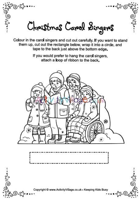 activity village christmas characters carol singers