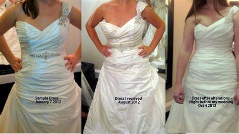 ruined  wedding dress  alteration   bad