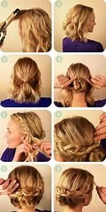Chignon Cheveux Mi Long : comment faire une coiffure facile cheveux mi longs ~ Melissatoandfro.com Idées de Décoration