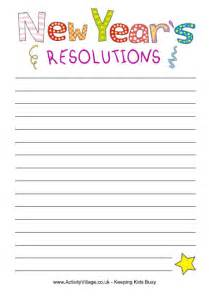 new year s resolutions books new year resolutions paper for kids to print