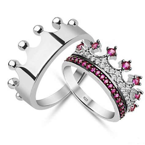 king crown ring crown ring set gold crown ring