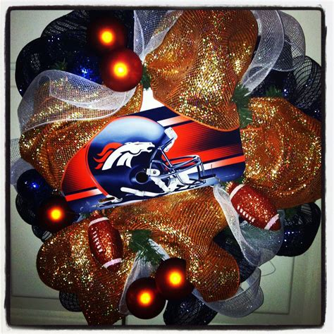 denver broncos holiday wreath christmas ideas