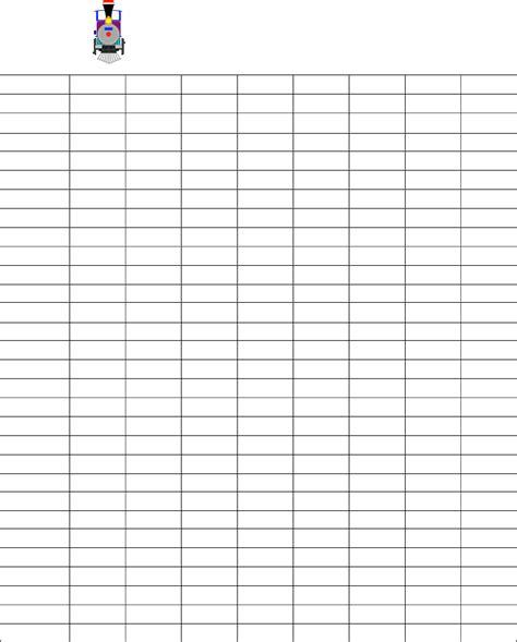 Blank Mexican Train Score Sheet Free Download