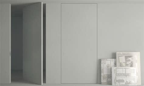 cuisine a peindre portes battante invisible à axe déporté secret à peindre
