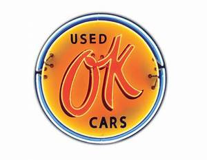 Ok Used Cars Neon Sign Antique Garage Signs by SignPast