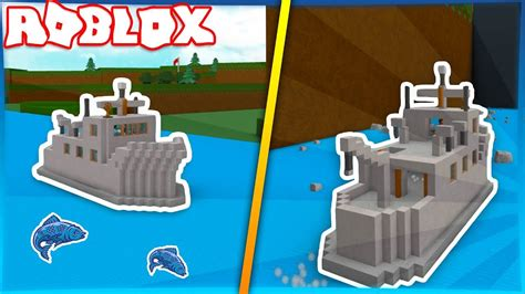 How To Build A Boat Roblox by Fishing Boat Build A Boat For Treasure