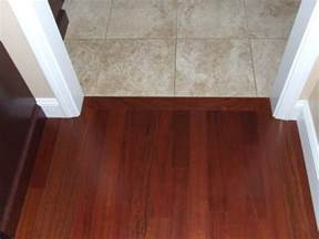 hardwood to tile transition how to the transition