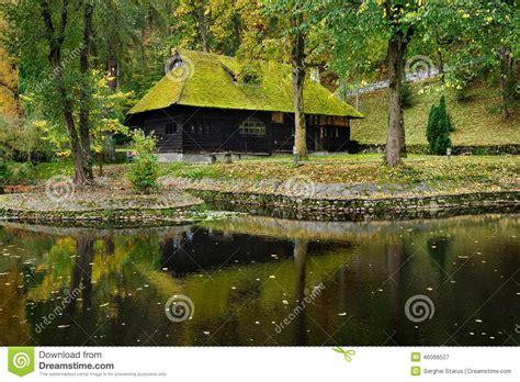 maison de la mousse maison en bois avec de la mousse sur le toit photo stock image 46066527