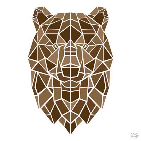 geometric animals  behance