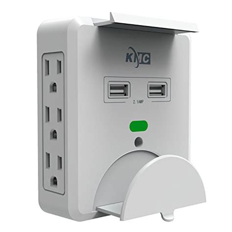 outlet usb wall surge protector mount ports plug multi shelf adapter charging amp holder tap kmc amazon