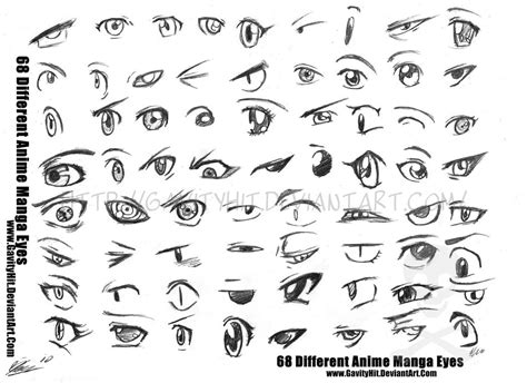68 Different Anime Manga Eyes By Gh07 On Deviantart