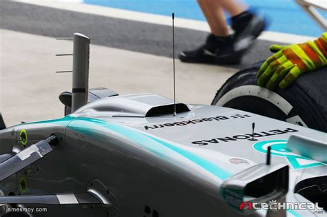 Posted on october 21, 2011 by scarbsf1. Mercedes AMG F1 W06 with a duct on the nosecone - Photo ...