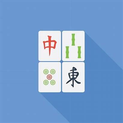 Mahjong Icon Tiles Vector Clip Illustration Illustrations