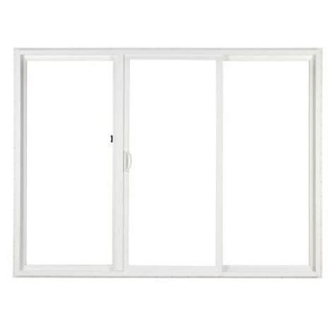 simonton 120 in x 80 in 3 panel white contemporary