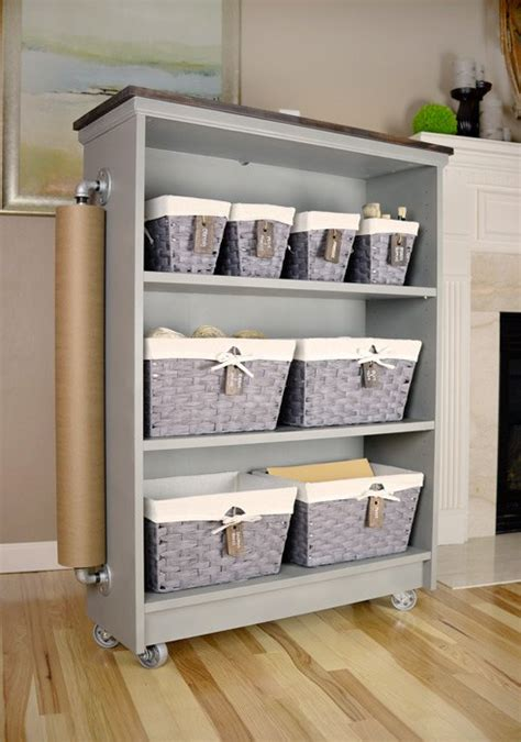 hometalk  ikea billy bookcase  craft cart