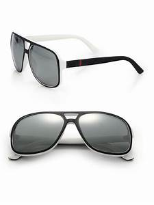 Gucci 1115/s 59mm Mirror Aviator Sunglasses in Black for ...