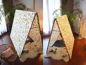 Cabane Enfant Tissu : diy la cabane en tissu malice et blabla ~ Teatrodelosmanantiales.com Idées de Décoration