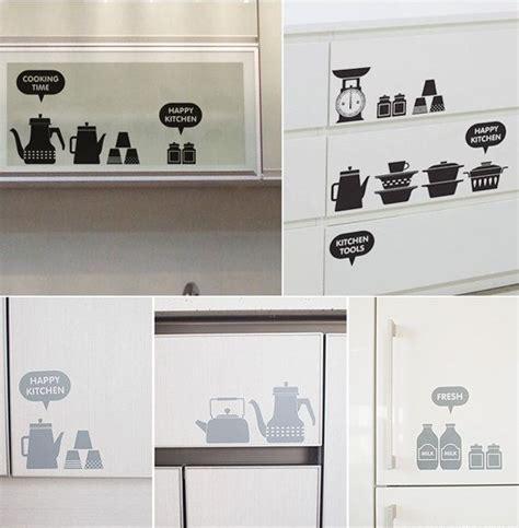 happy kitchen adesivi decorativi  muro mobili