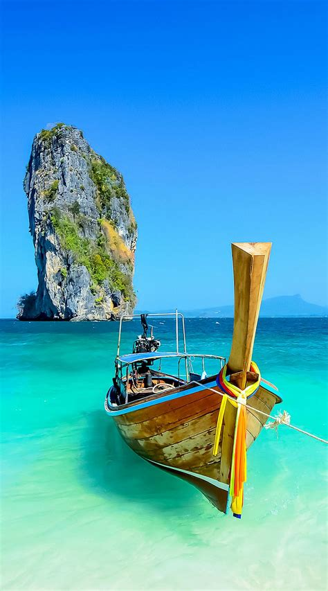 Cliff And Boat In Krabi Phuket Thailand 10 Idyllic