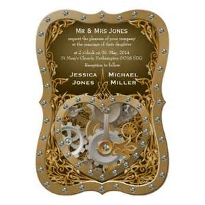 themed invitations steunk theme wedding invitation