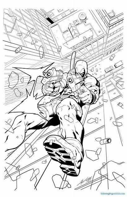 Deadpool Coloring Pages Printable Colouring Lego Cartoon