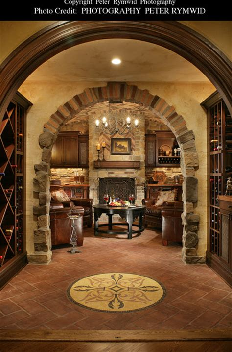 killer basement mediterranean wine cellar  york