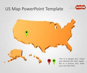 map powerpoint template  powerpoint