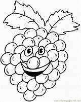 Coloring Grapes Grape Printable Humanoid Fruit Cluster Colouring Happy Fruits Coloringpages101 Crafts Cartoon Cartoons Sheets Paper sketch template