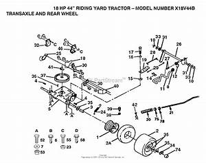 Ayp  Electrolux X18v44b  1991  Parts Diagram For Transaxle