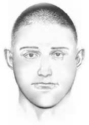 composite sketch of a suspicious man who followed a