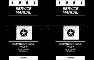 1991 Dodge Pickup Truck Repair Shop Manual D150 D250 D350