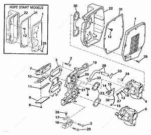 Johnson 1990 45 - J45rclesr  Intake Manifold  U0026 Air Silencer