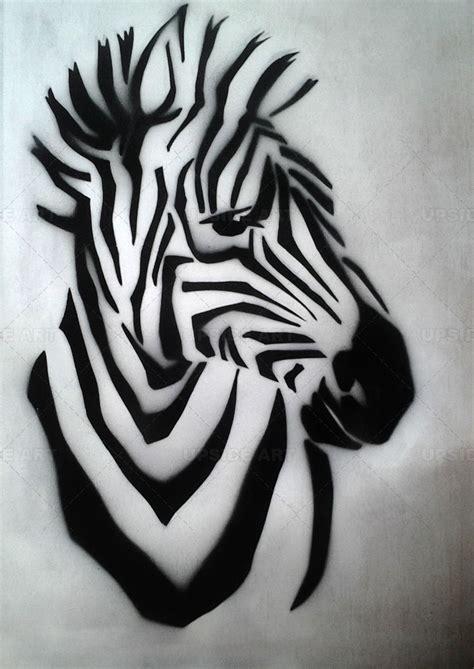 tableau contemporain animal sur toile upside art zebre