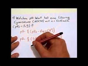Ph Wert äquivalenzpunkt Berechnen : ph und poh wert bei schwachen s uren und basen berechnen youtube ~ Themetempest.com Abrechnung