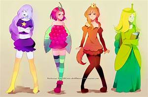 adventure time princesses by chuwenjie on DeviantArt
