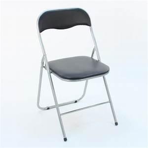 Chaise Pliante Noire : 4 chaises pliantes noir achat vente chaise salle a manger pas cher couleur et ~ Teatrodelosmanantiales.com Idées de Décoration