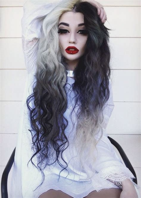 black and white hair color a month in hair colors today black white hairstyles