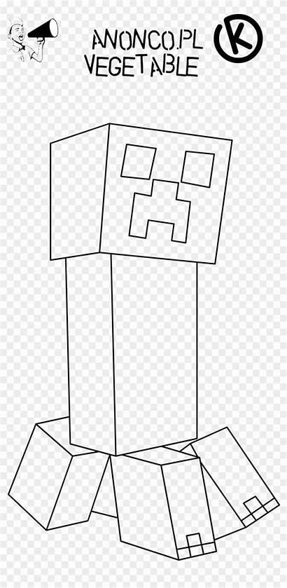Minecraft Creeper Face Printable Coloring Kolorowanki Pusheen