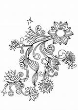 Flower Pattern Coloring Pages Printable Adults Patterns Colouring Adult Template Floral Designs Drawing Books Templates Buzzle Colour Sheets Drawings Relive sketch template