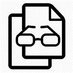 Icon Research Documents Analysis Icons Glasses Development