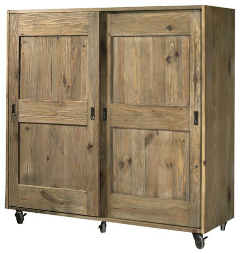 Kitchen Cupboard On Wheels girasole aged pine cupboard on wheels country pantry