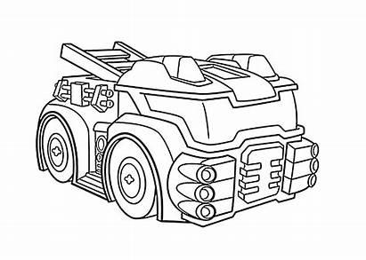 Rescue Bots Coloring Bot Printable Transformers Heatwave