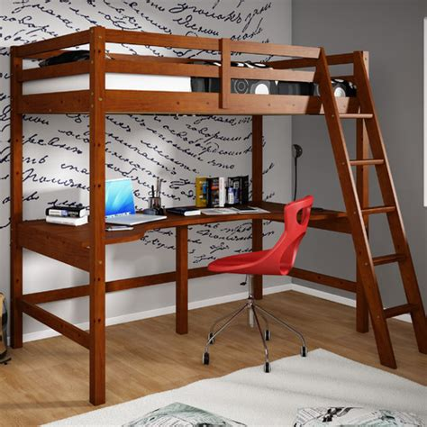 Donco Loft Bed by Donco Donco Loft Bed With Shelves