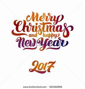Merry Christmas Happy New Year 2017 Stock Vector 505568866 ...