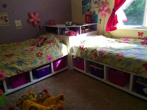 build twin corner beds  storage diy projects