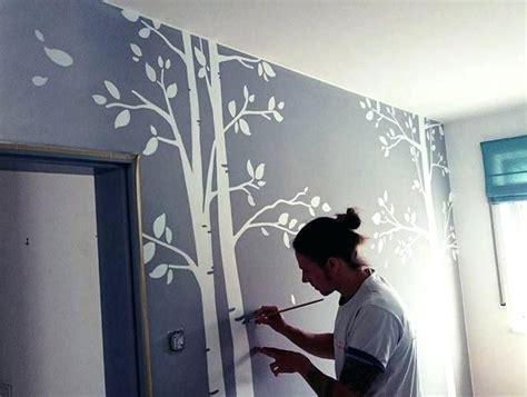 Wandgestaltung Kinderzimmer Junge Selber Machen by Kinderzimmer Wandbemalung Muster Stoff On Innen Und Aussen