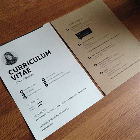 personal presentation cv s business cards on behance
