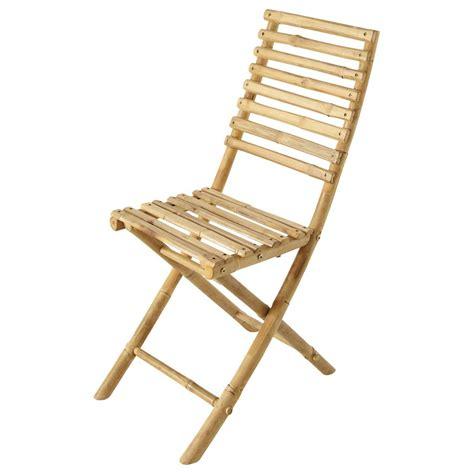 chaise bambou chaise pliante de jardin en bambou robinson maisons du monde